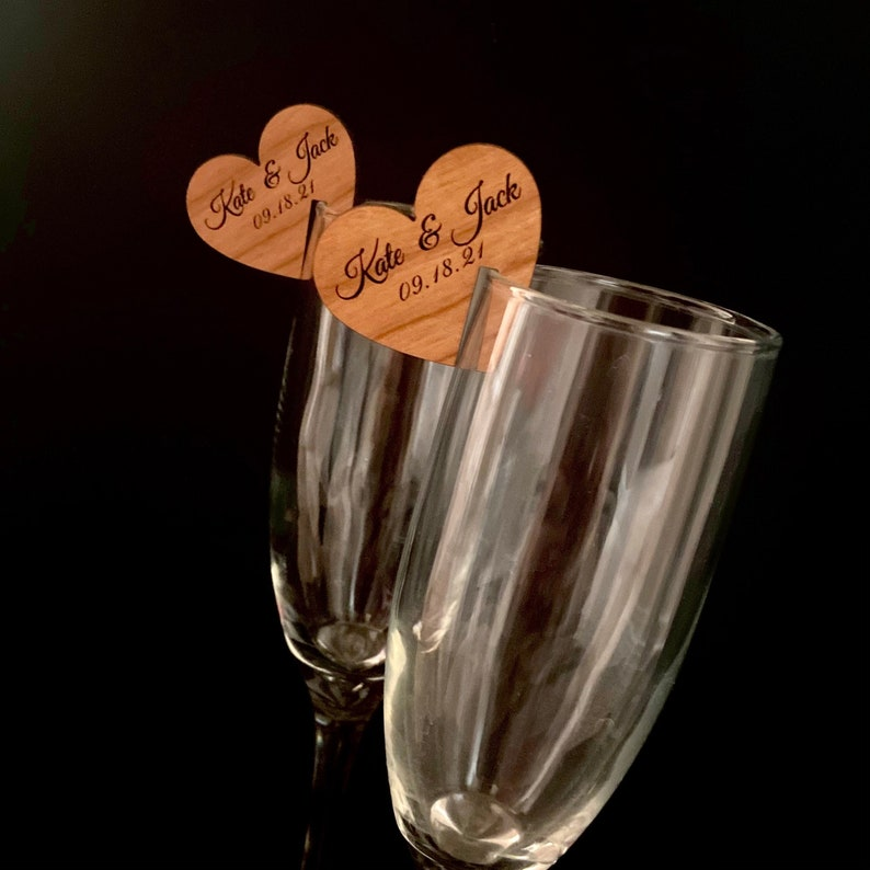 Wine Topper Wedding Favor Custom Wine Charms Personalized Wedding Favor