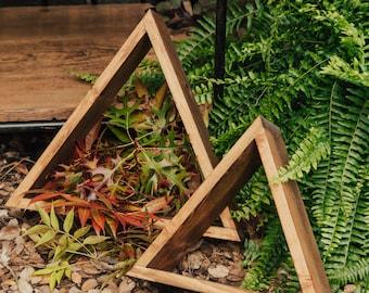 Large Triangle, Geometric Shelves, Home Decor, Wedding Details.