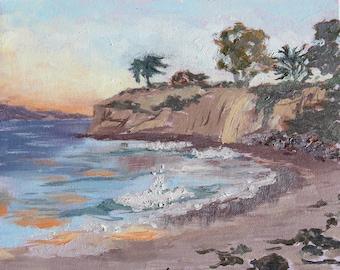 95 Degrees at the Beach - Plein Air Oil Painting