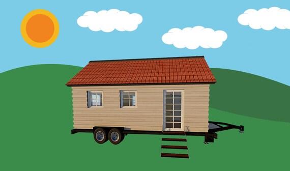 Petite Maison Sur Roues Plans Dessins Sur Cd Construire Une Etsy