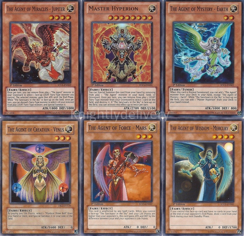 Yugioh Agent Budget Deck - Master Hyperion - Mystery - Earth - Venus - 42  Cards - NM