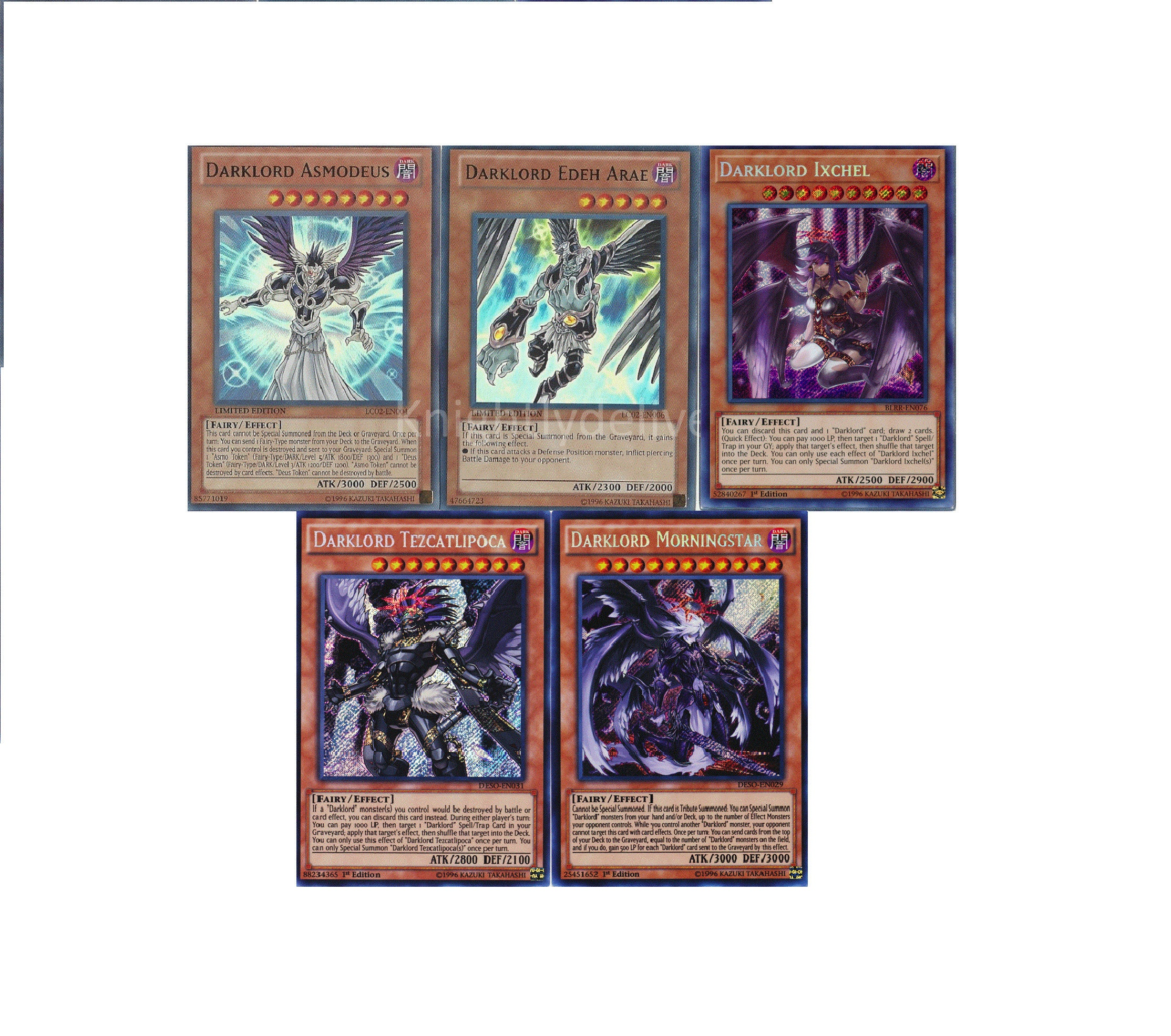 Darklord Fairy Budget Deck - Ixchel - Nasten - Tezcatlipoca - 43 Cards - NM  - Yugioh