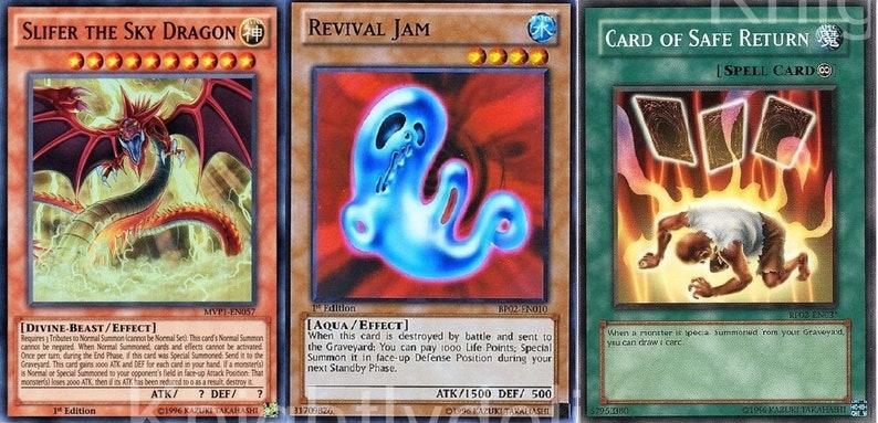 Strings Complete Deck - Card of Safe Return - Slifer - Revival Jam - 41  cards Yugio