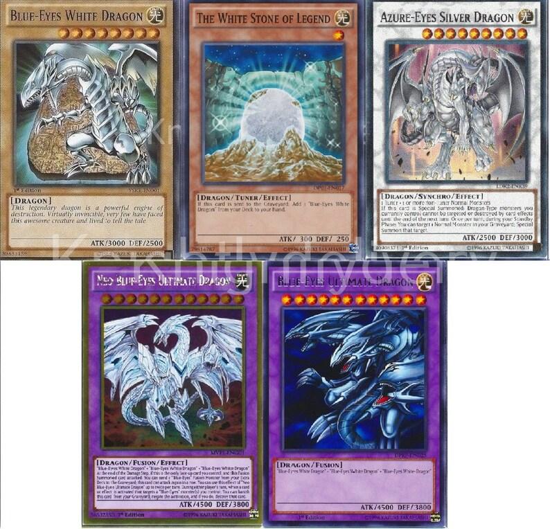 27e30dfe8199e Yugioh - Blue-Eyes Complete Deck - Neo Ultimate - Azure-Eyes - Dragon  Shrine - 45 Cards