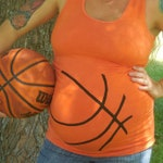 Basketball or Bows Gender Reveal Maternity Shirt, Funny Maternity Shirt, Halloween Maternity,  Basketball mom shirt