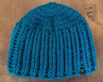 Teal Crochet Beanie