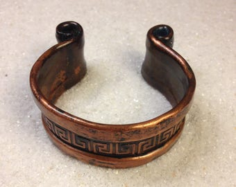 Handmade hammered copper cuff