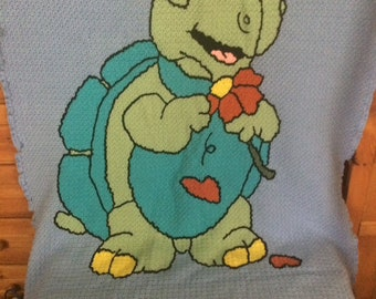 Personalized Turtle blanket