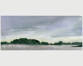 "Original Watercolor - ""Mackworth Island"""