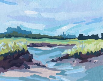 "Original Gouache - ""Scarborough Marsh from Seavey's Landing"""