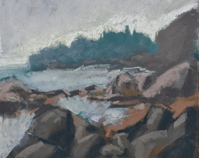 "Featured listing image: Original Pastel - ""Pond Cove"" Cape Elizabeth Maine"