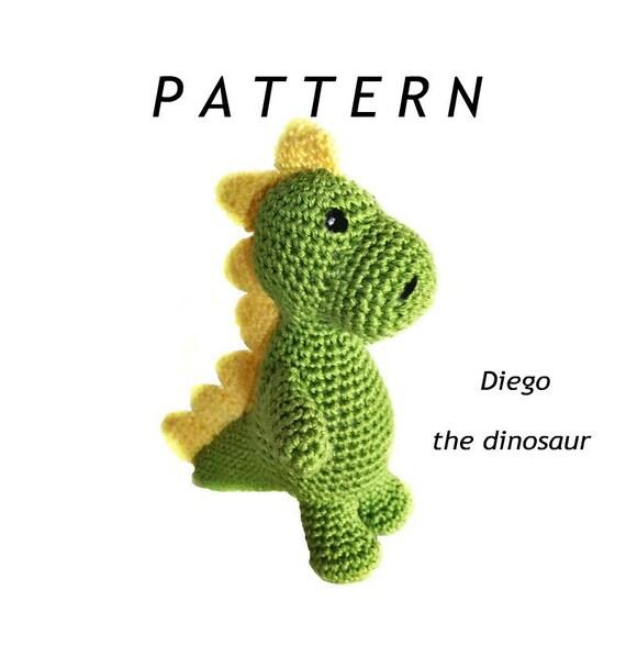 PATTERN crochet DINOSAUR pdf tutorial how crochet dinosaur pattern ... | 608x570