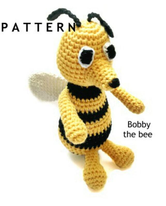 Bee Pattern Amigurumi Pattern Crochet Bee Pattern Crochet Etsy