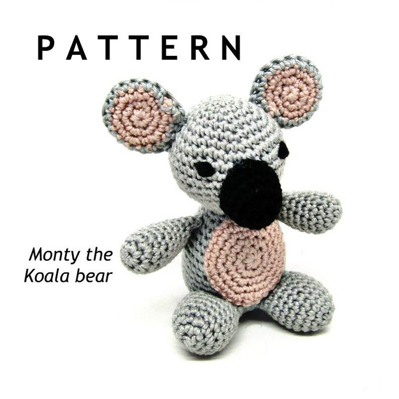 Plush toy pattern Crochet pattern Crochet giraffe Crochet koala Amigurumi tutorial Amigurumi pattern Crochet toy Crochet hippo