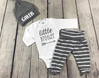 b3214aaf0 Little brother baby boy outfit/ baby boy coming home outfit/ baby boy/ baby  boy outfit