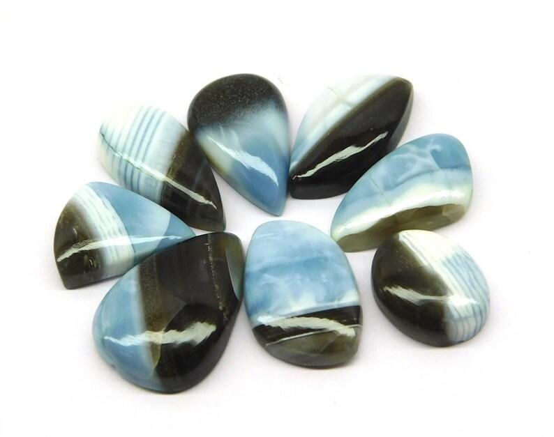 Bule Opal Fantastic Cabochon Lot Handmade Natural Loose Gemstone Oval Pear Shape Mix Size Designer Gemstones Cabochon Lot