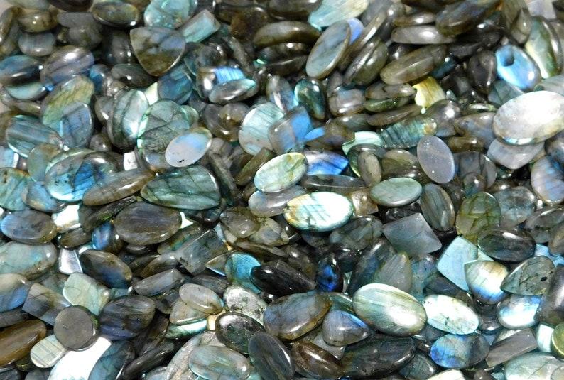 Labradorite Cabochon Natural Blue Fire Shape Loose Semi Precious Gemstones Cabochon Lot Wholesale Lot Hand picked Wholesale
