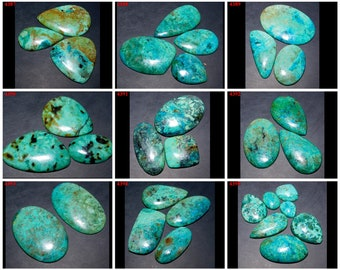 CHRYSOCOLLA Cabochon Lot Natural AAA Green Gemstone For Jewelry Loose Gemstones cabochons Mother's Day Gift