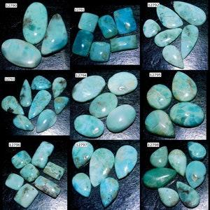 CARIBBEAN LARIMAR Cabochon Lot Natural AAA Sky Blue Larimar Gemstone For Jewelry Making Handmade Loose Gemstones cabochons