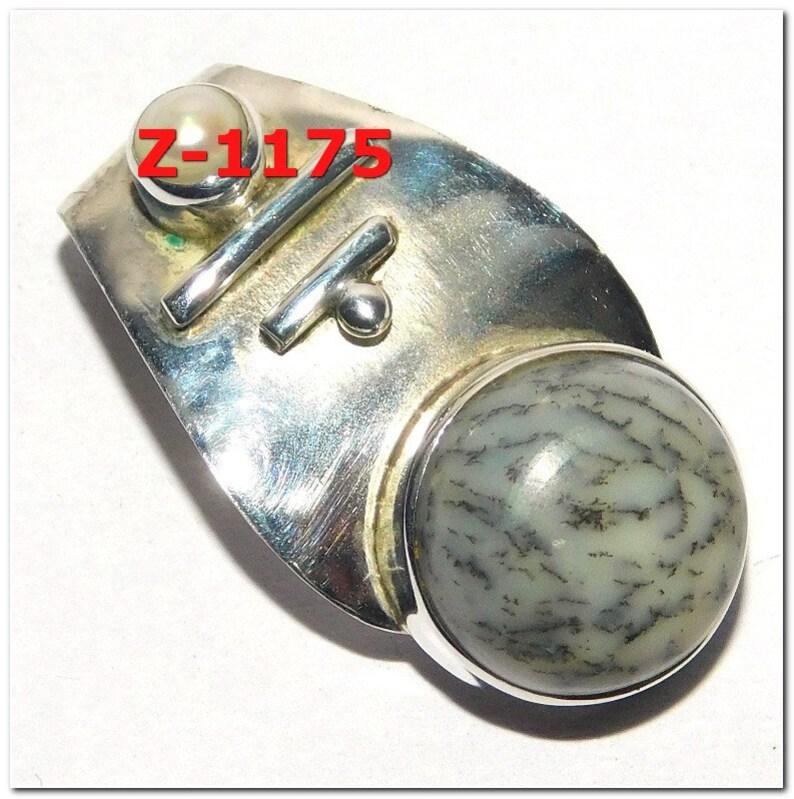 Gift Idea Natural Silver Gemstone Pendant Top Quality Dendrite Opal Gemstone Handmade 925 Sterling Silver Pendant Gift Pendant