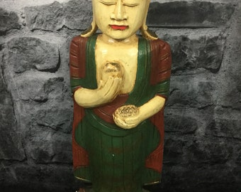 "20"" Indonesian Hand carved Buddha Statue"