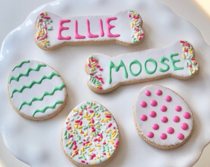 GRAIN FREE Personalized Easter Cookies for Dogs