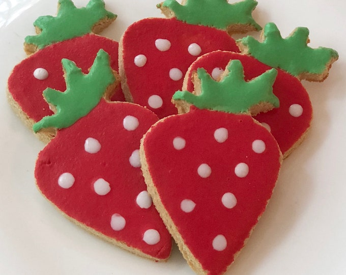 Iced Strawberry Dog Treats - GRAIN FREE
