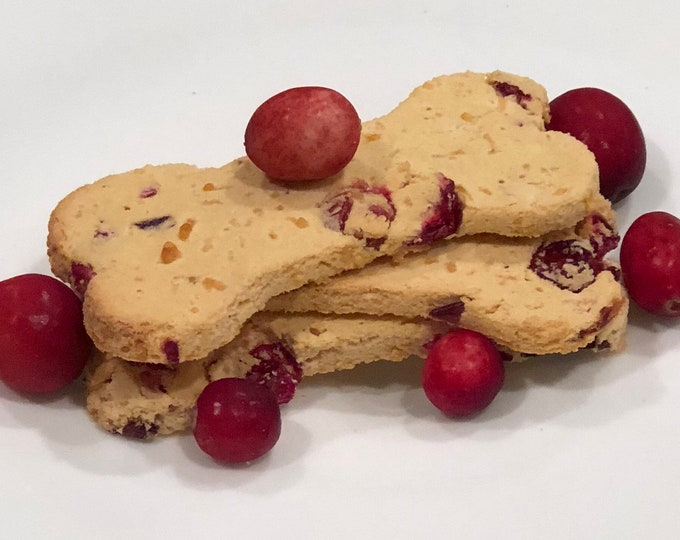 Cranberry Cheddar Biscuits - GRAIN FREE Dog Treats