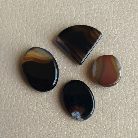 Approx 39X22X5 mm Natural Onyx Marble Cabochon Gemstone Fancy Shape Cabochon Loose Gemstone For Jewelry 40Cts