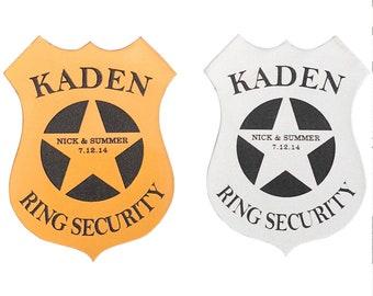 Ring Bearer Security Badge, Personalized Ring Bearer Gift, Wedding Gift, Ring Bearer Gift, Security Badge, Groomsman, Birthday Gift