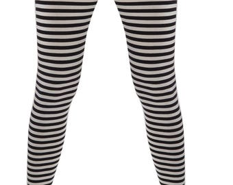 78c655b93888b High Waist Leggings/Striped Leggings/Yoga Pants/Full Length Leggings/Cotton  Leggings