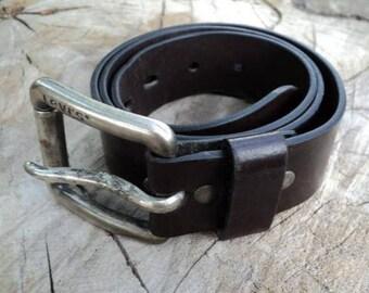 Ceinture vintage en cuir noir, ceinture en cuir, ceinture Levis des années  1980, ceinture américaine Levis, ceinture pour homme 7b1d117e0ba