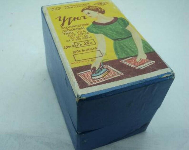 Mini Iron Retro Gadget for Ironing. Soviet Vintage Travel Iron