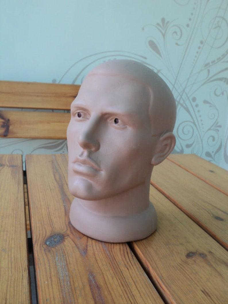 Head for presentation Mannequin man Creativity showcase D\u00e9cor Vintage For needlework