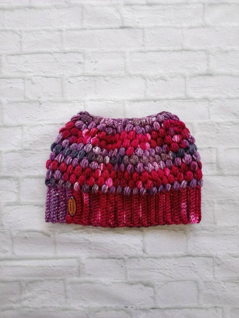 d5c60c7abee Messy bun beanie mom beanie crochet womens beanie Red