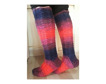 Knee high socks, mothers day gift, Long knitted socks. Leg warmers woman,knit knee high socks, cable knit socks, cable knit leg warmers.