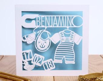 The Nursery 'Building Blocks', New Baby Card, Personalised Birthday Card For Baby, Newborn Card