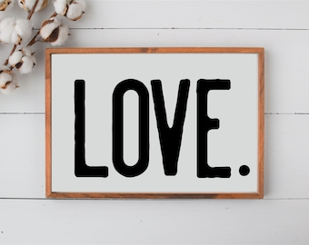 Love Wood Sign Etsy