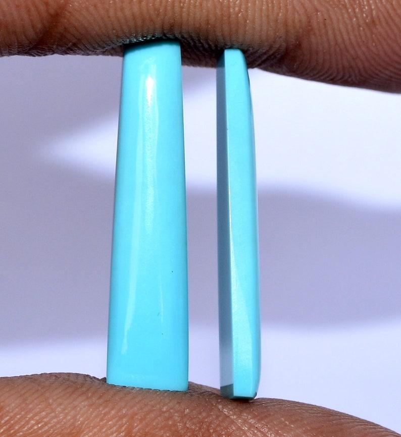 29x7 mm Certified Natural Turquoise Sleeping Beauty Fancy Baguette Shape Cabs Pair Untreated Loose Gemstones