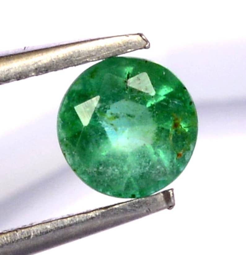 Certified Natural Emerald Round Cut 4.50 mm 0.39 Cts Lustrous Loose Gemstone