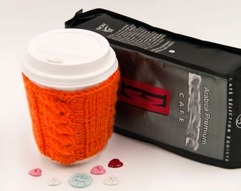 Moter's Day Gift Coffee Cup Cozy  Knit Cup Cozy Mug Holder Sweater Cup Coffee Jacket Wool Coffee Sleave Crochet Mug Sleeve Cup Warmer