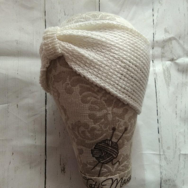 afd4246f0ba Knit Headband Merino Wool Womens Headband Stretch Crochet Bow