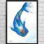 The Whale Shark Watercolour