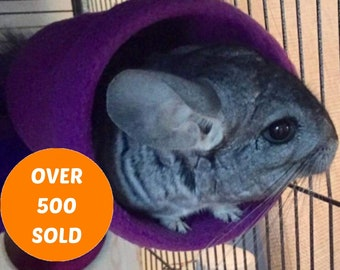 Hanging Tunnel For Chinchilla / Fleece Covered Cage Accessories / Chinnie Tube