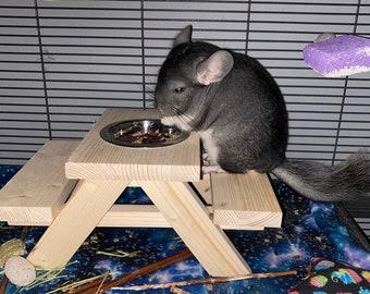 Chinchilla Picnic Table, Rat Cage Accessories, Degu Feeder