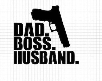 Dad Boss Husband Window Decal
