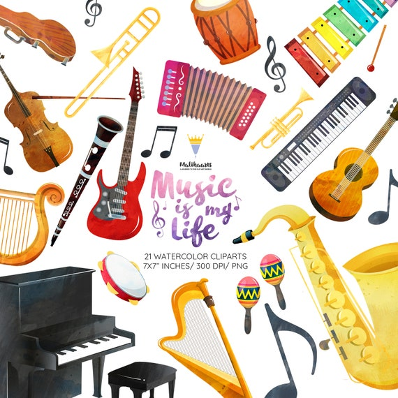 Musical Instruments Clipart Music Clipart Orchestra Clipart Etsy