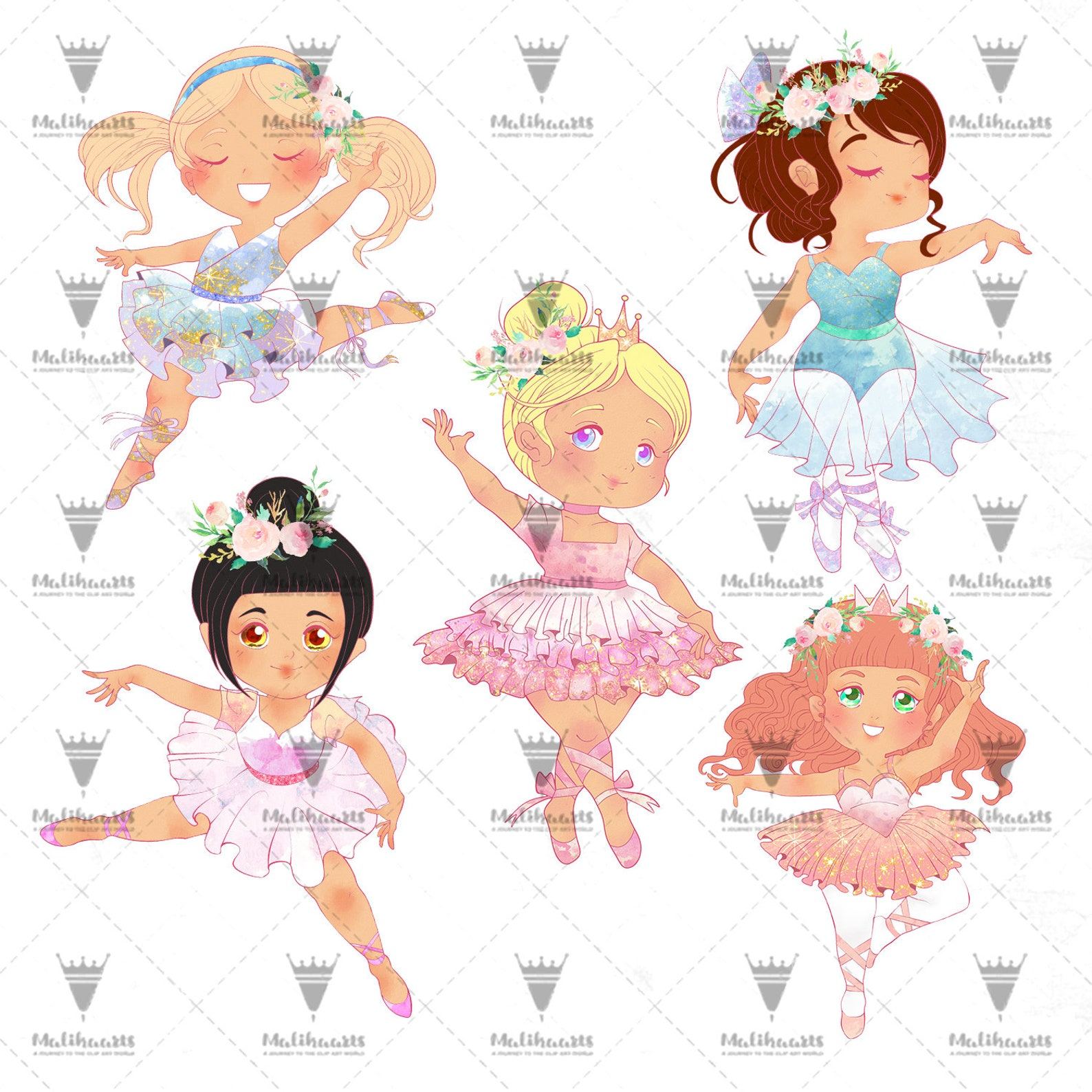 ballet clipart, ballerina clipart, girl ballet, dancing clipart, swan clipart, ballet shoes, ballet dress, instant download png