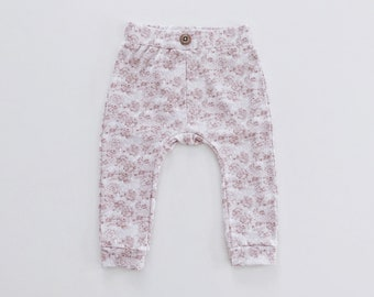 Comfy jersey pink floral pants