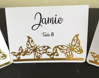 Butterfly place card | Etsy